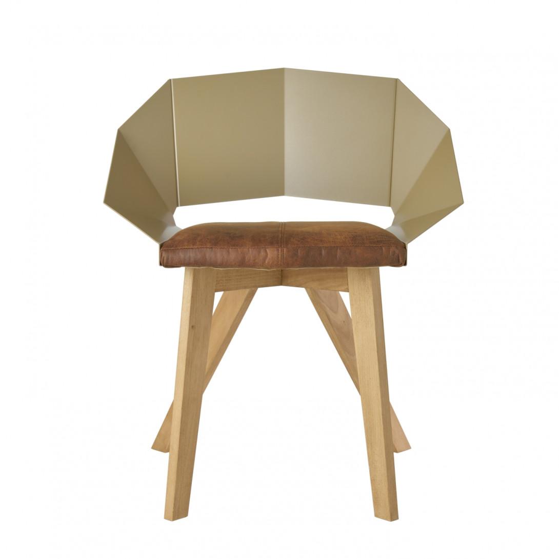 Krzesło KNIGHT na drewnianych nogach szampańsko brązowe FST0387