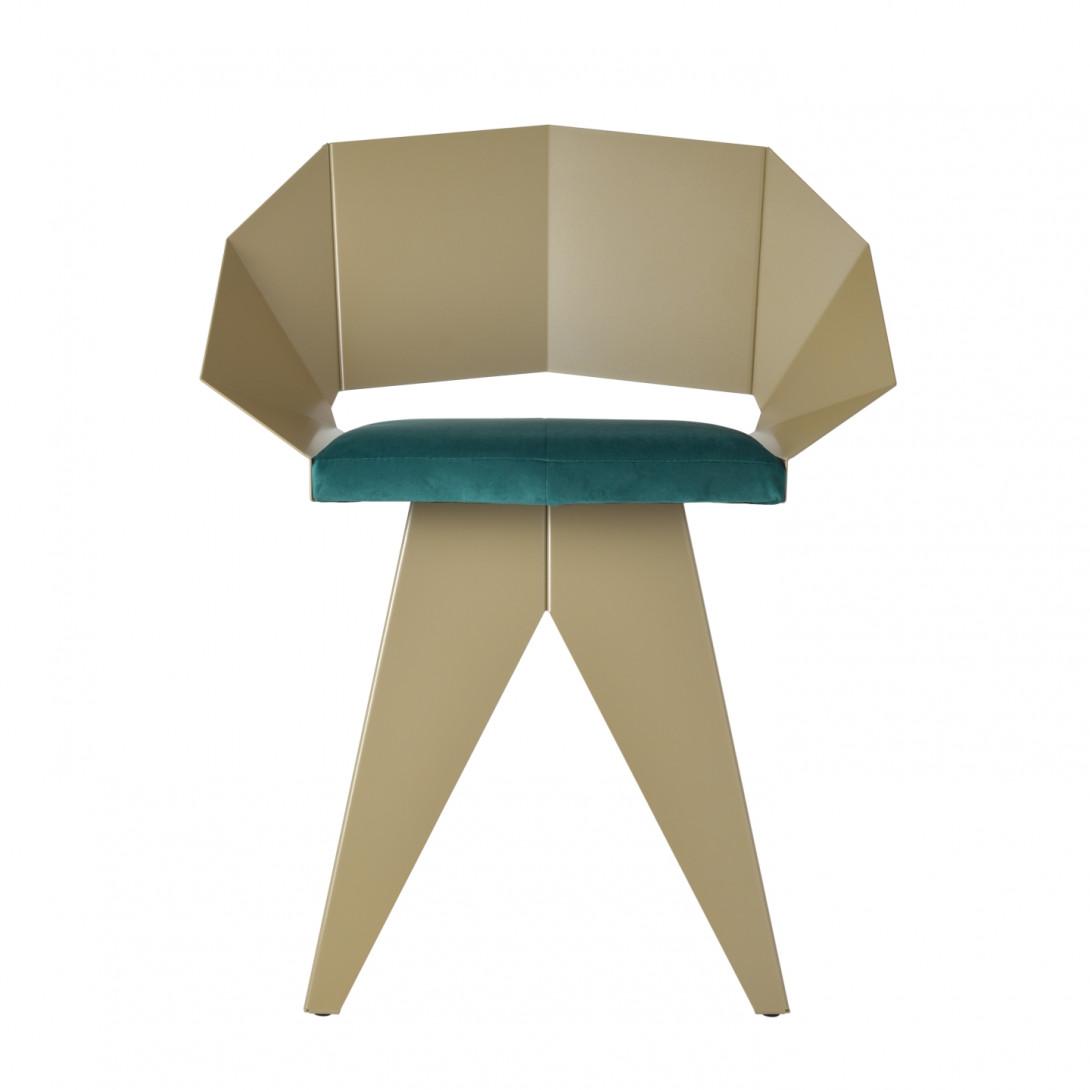 Stalowe krzesło KNIGHT szampańsko turkusowy FST0394 - 1 - gie el
