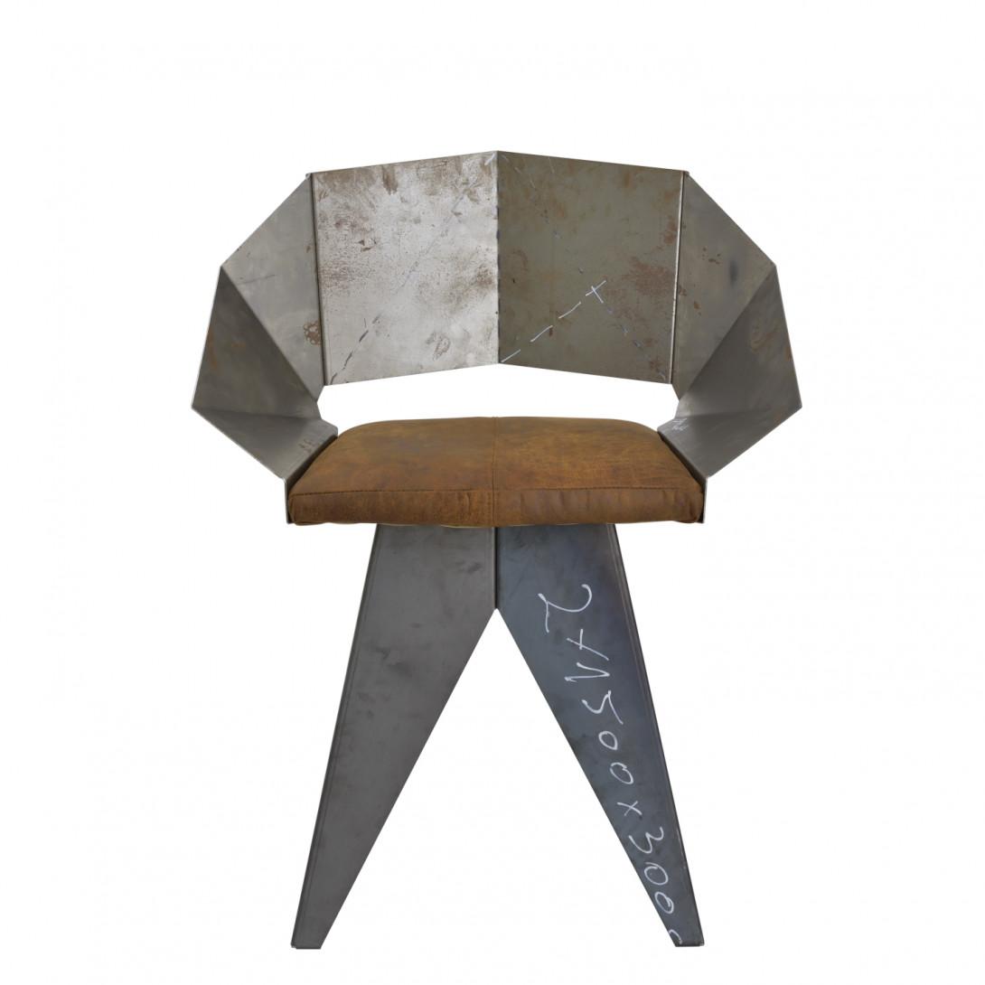 Stalowe krzesło KNIGHT FST0399