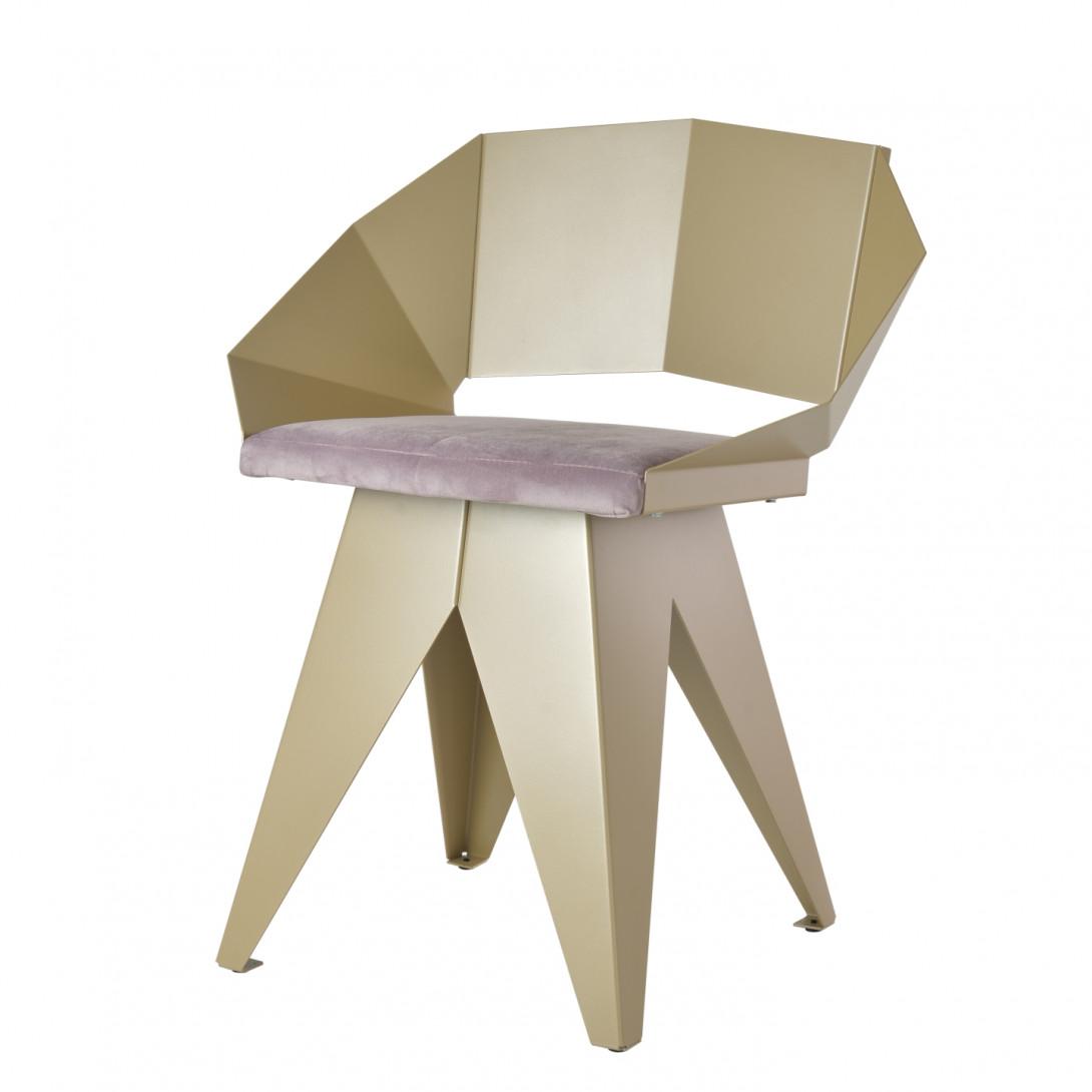 Stalowe krzesło KNIGHT szampańsko różowe FST0392