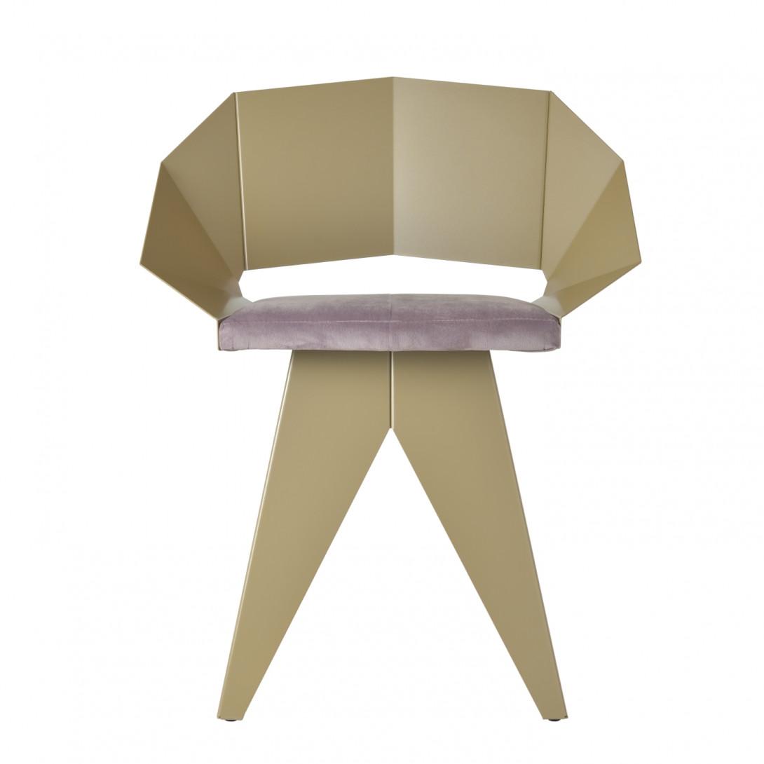 Stalowe krzesło KNIGHT szampańsko różowe FST0392 - 1 - gie el