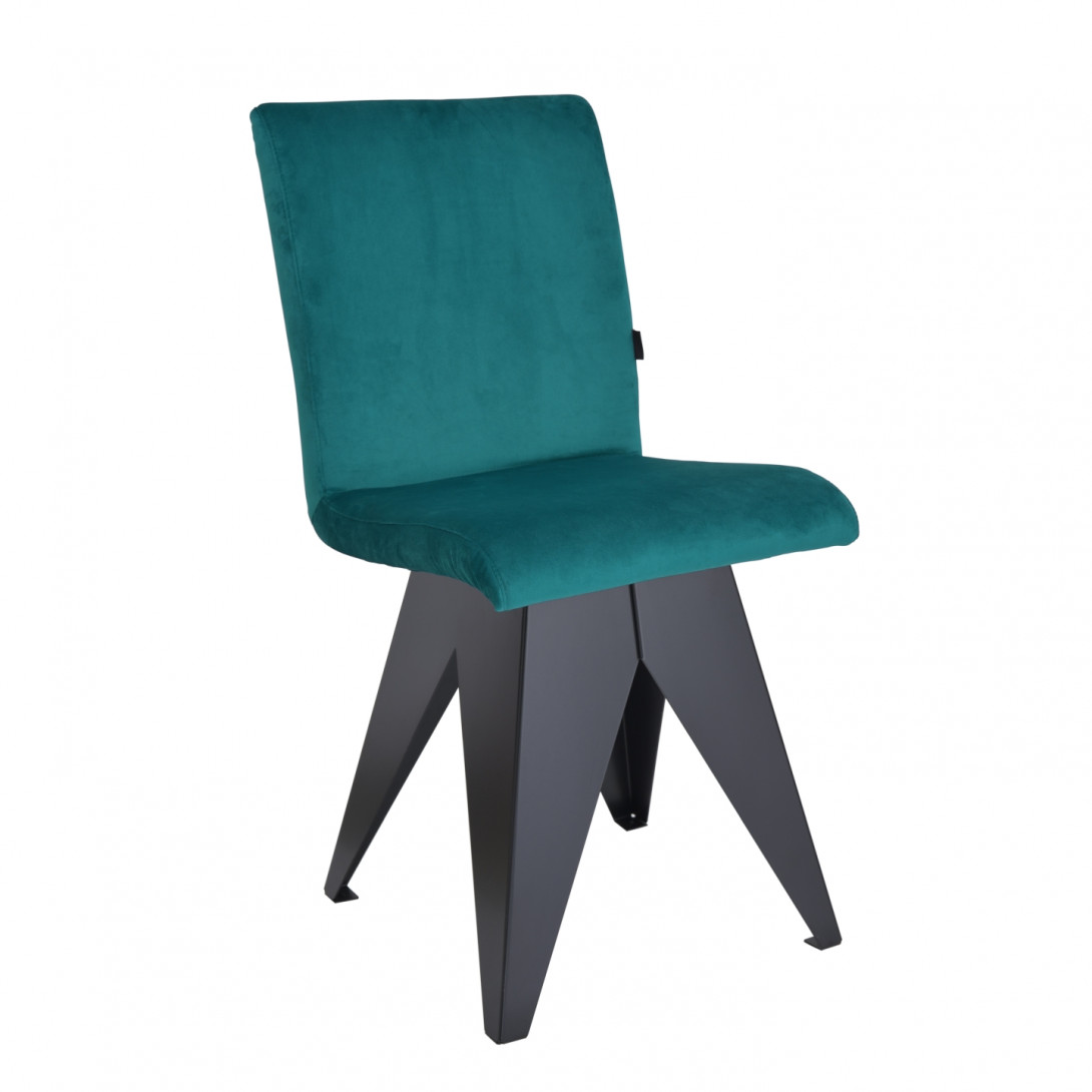 Chair on black base JAFAR turquoise FST0412