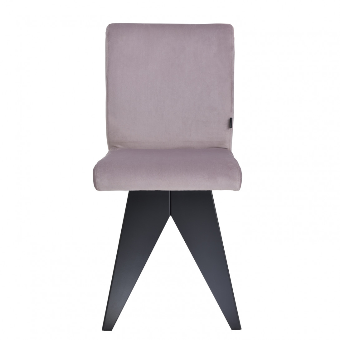 Chair on black base JAFAR pink FST0410