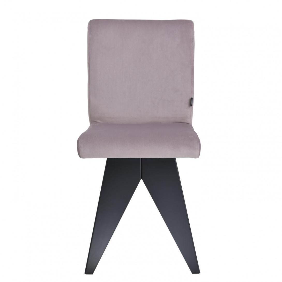 Krzesło na czarnej podstawie JAFAR różowe FST0410