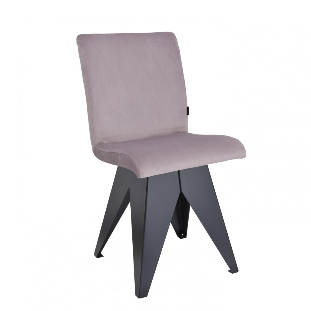 Krzesło na czarnej podstawie JAFAR różowe FST0410 - 1