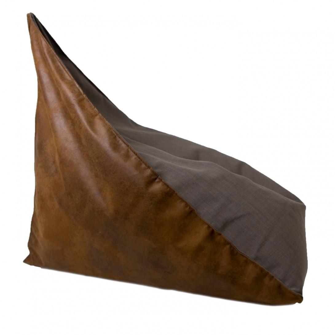 Linen pouf TRIANGLE FST0181 gray/brown