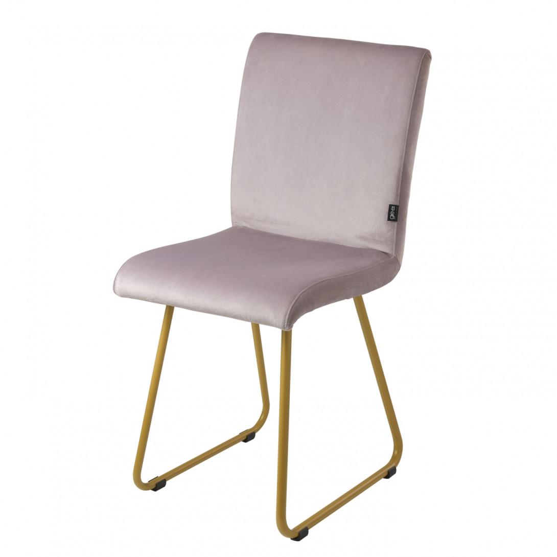 Chair on gold skids JASMINE pink FST0403