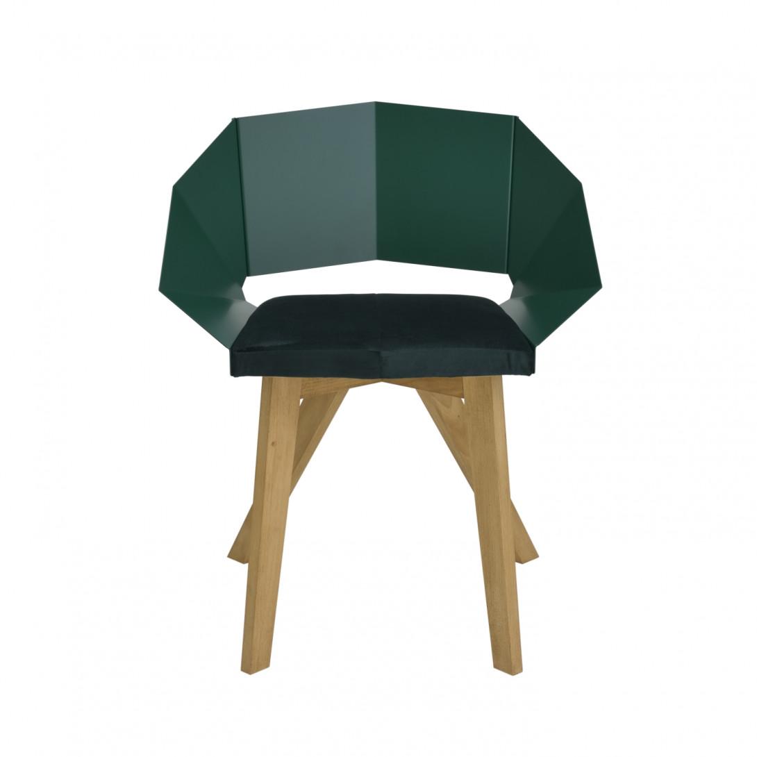 Krzesło KNIGHT na drewnianych nogach zielone FST0386 - 1