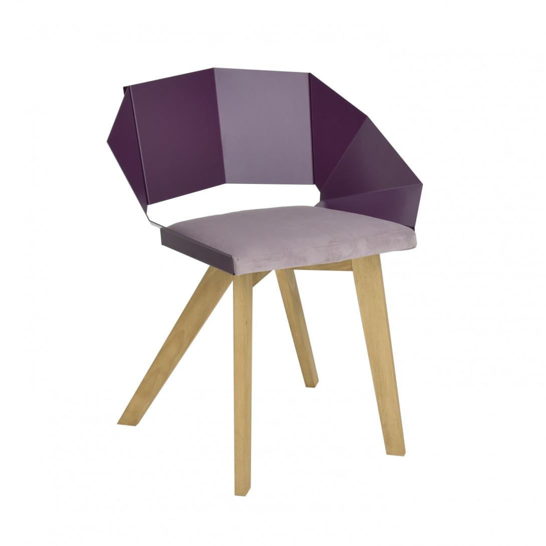 KNIGHT chair on wooden legs plum FST0385