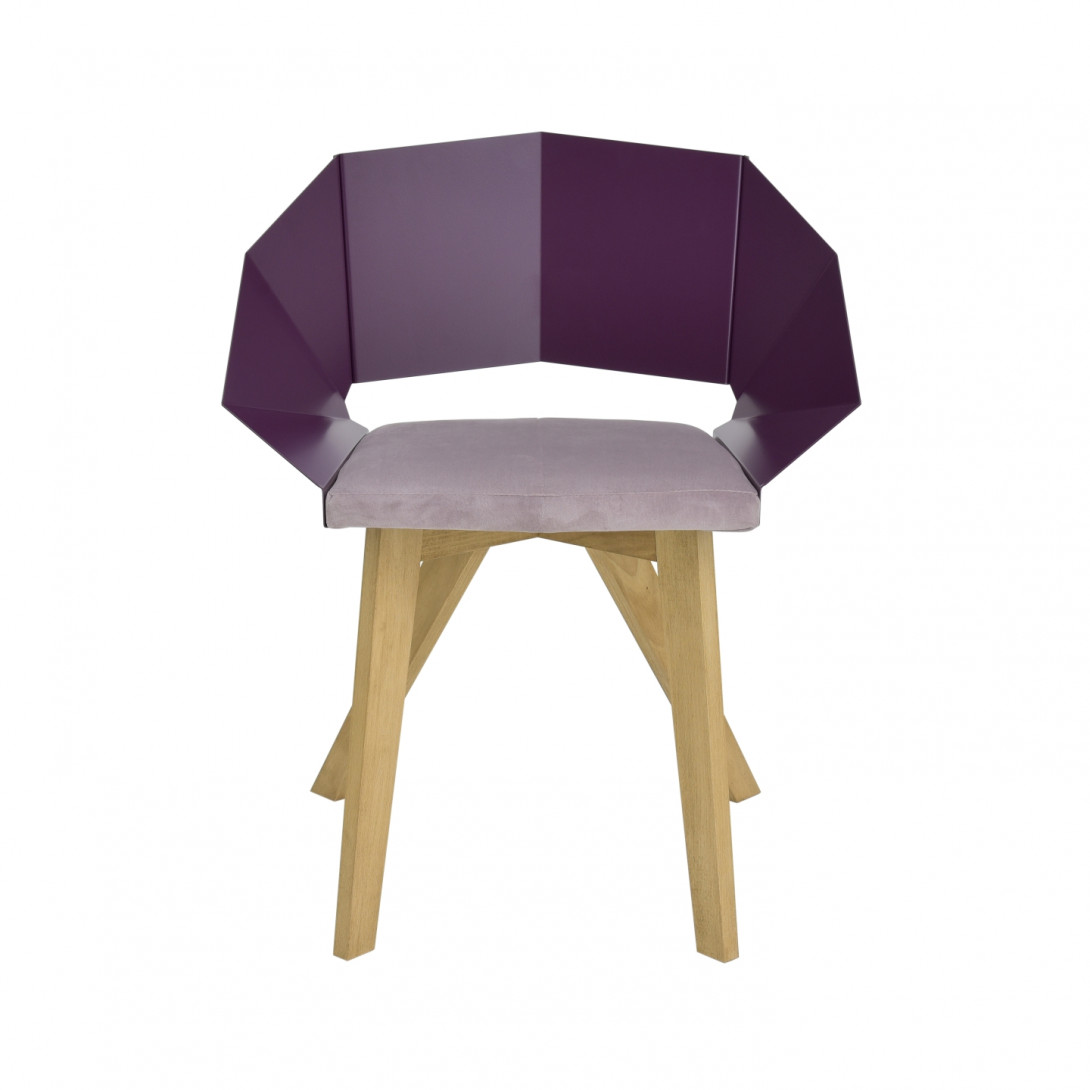 Krzesło KNIGHT na drewnianych nogach śliwkowe FST0385 - 1 - gie el
