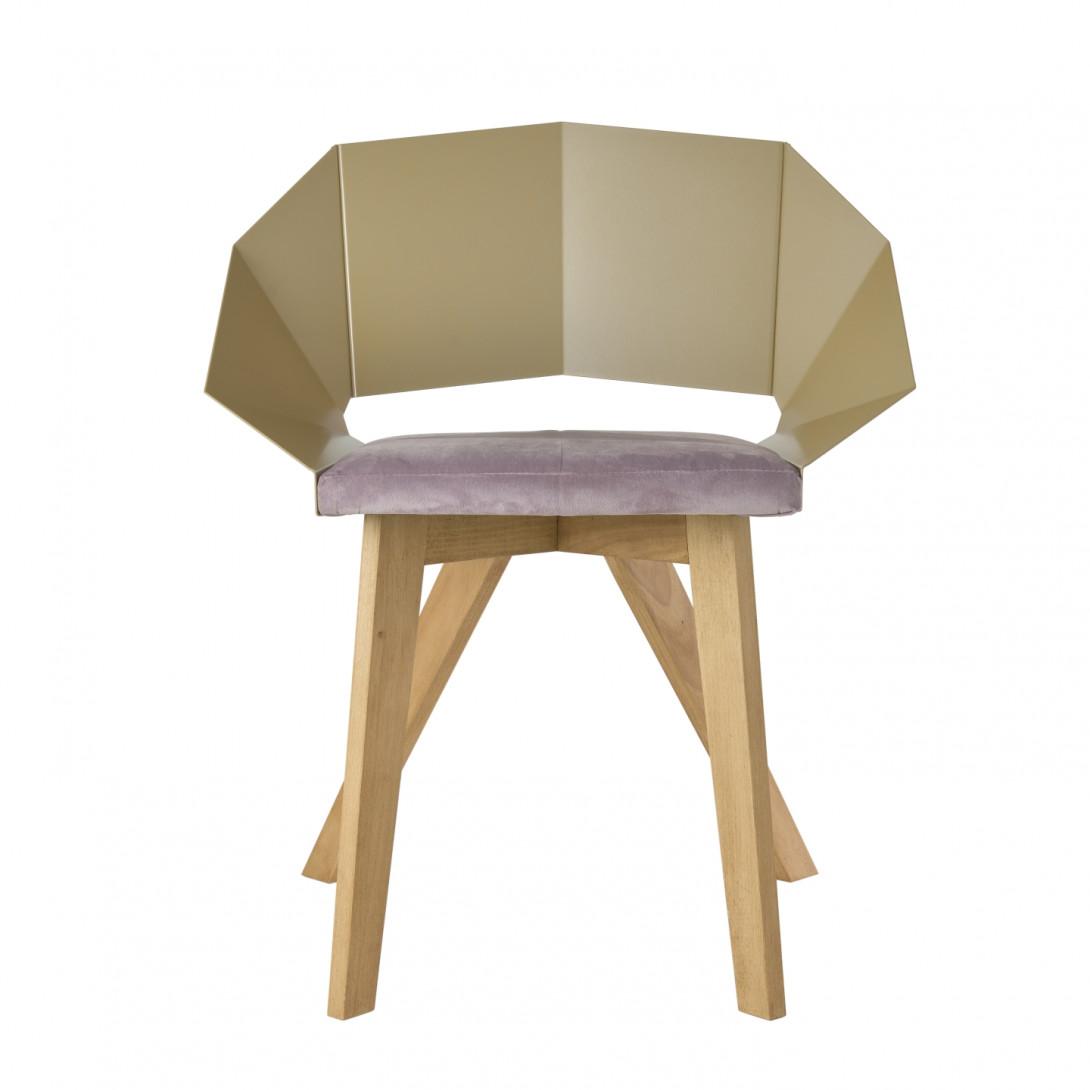 Krzesło KNIGHT na drewnianych nogach szampańsko różowe FST0382 - 1 - gie el