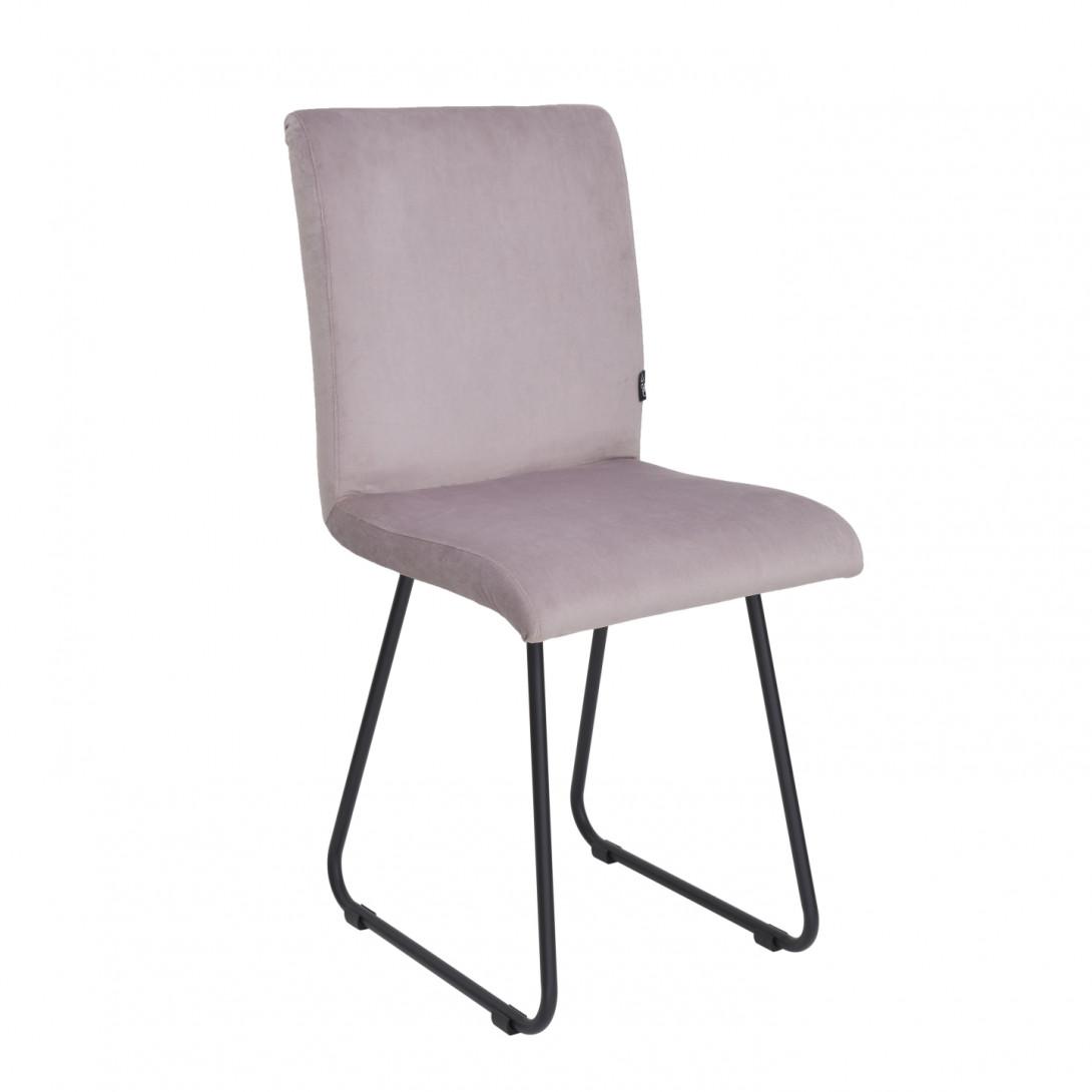 Chair on black skids JASMINE pink FST0400 - gie el