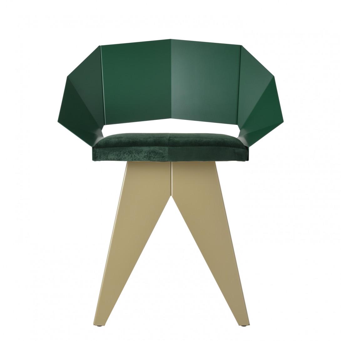 Stalowe krzesło KNIGHT zielono szampańskie FST0398 - 1 - gie el