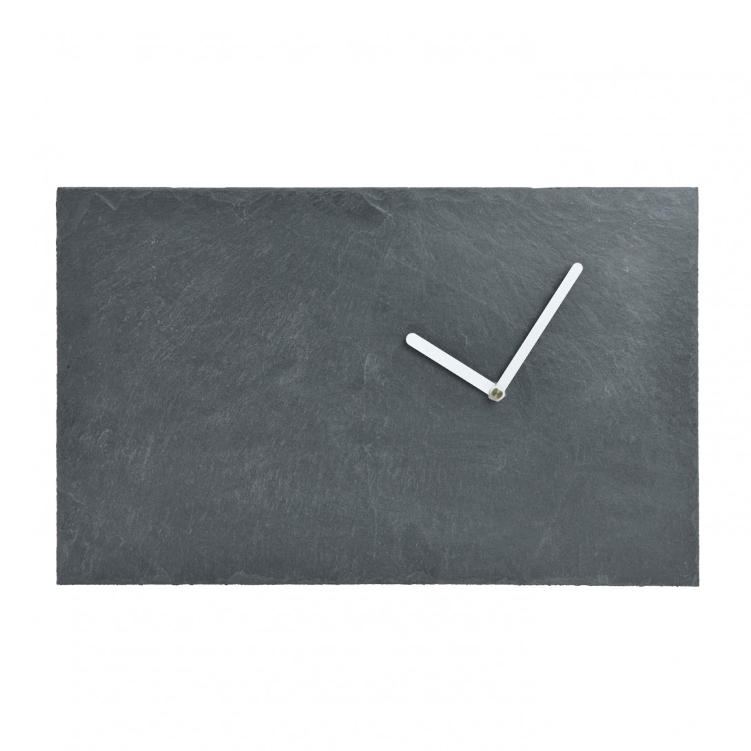 Wall clock STONE with white hands ACL0041 - gie el