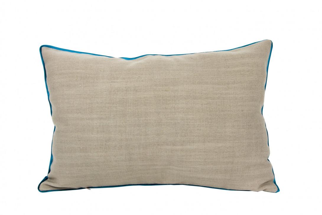 Poduszka z niebieską lamówką LINE APL0090