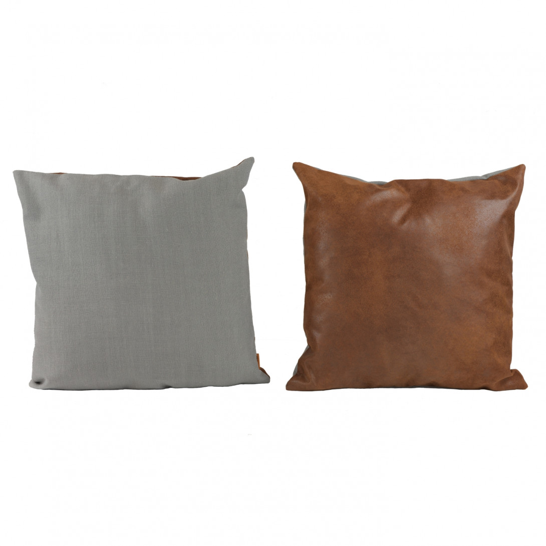 Decorative cushion DUO gray/brown APL0161