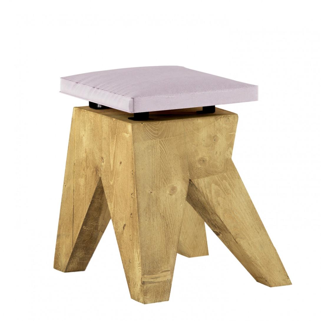 LOW stool with velvet pink seat FST0430 - 10 - gie el