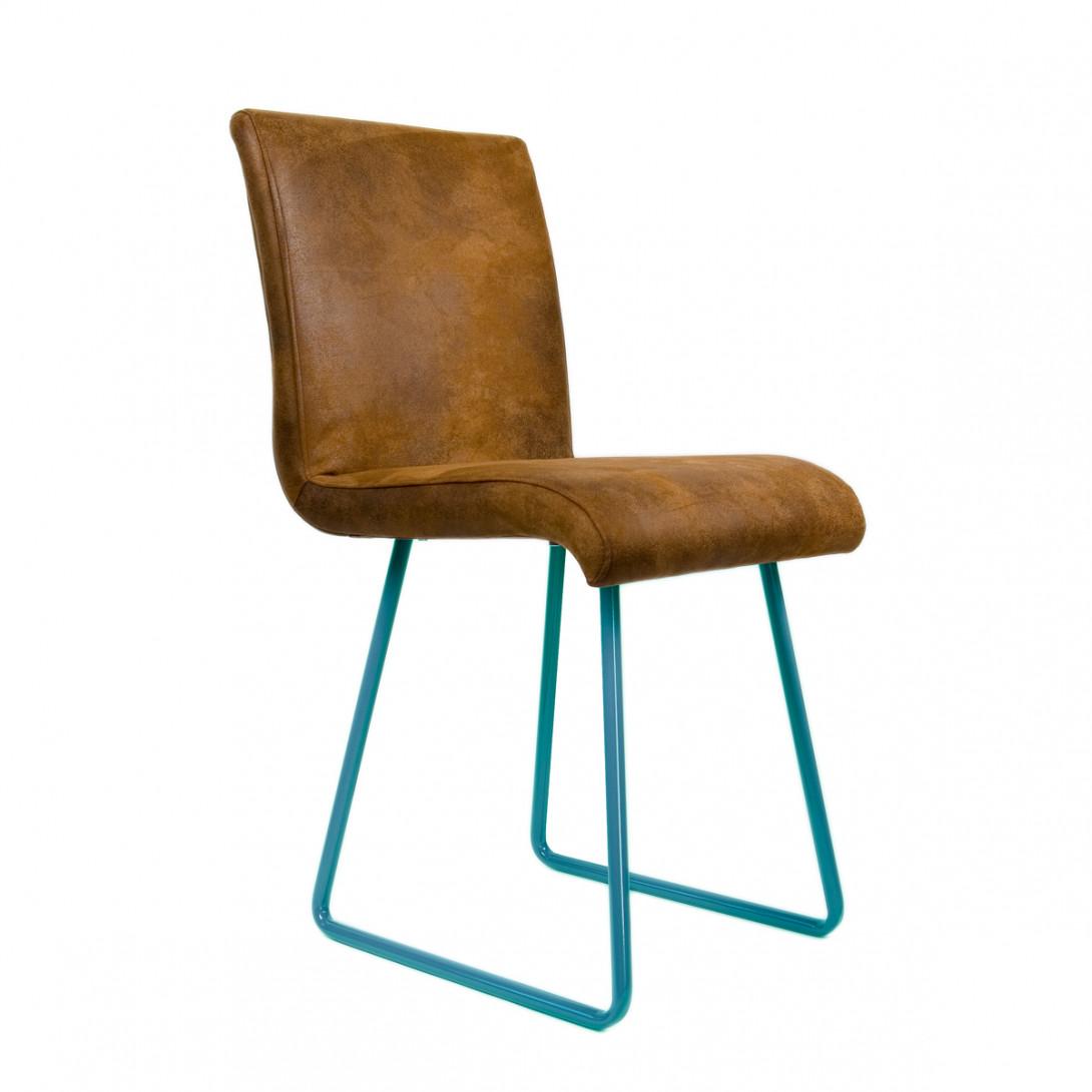 Krzesło na turkusowych płozach BROWNIE FST0032 - gie el