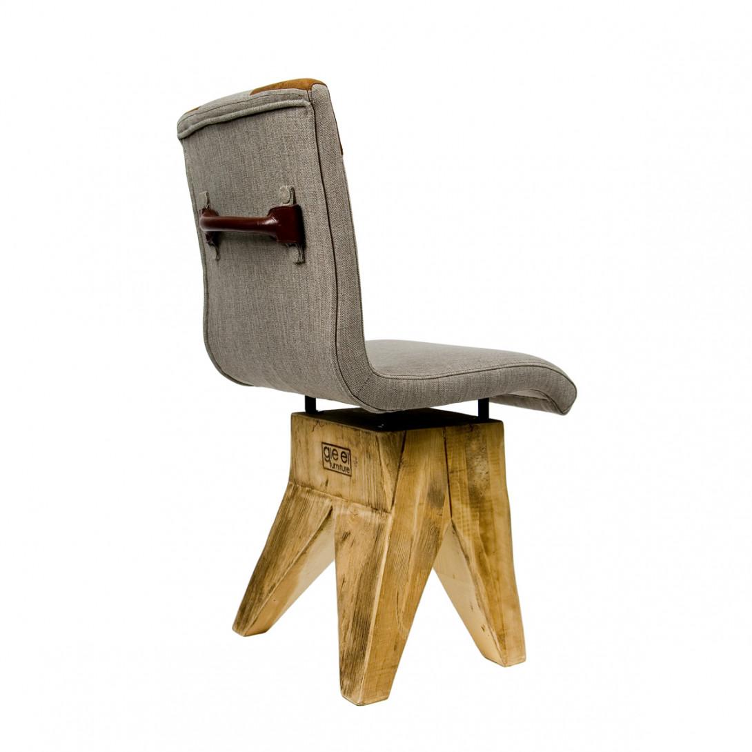 Krzesło na drewnianej bazie HANDY szary/brązowy FST0041