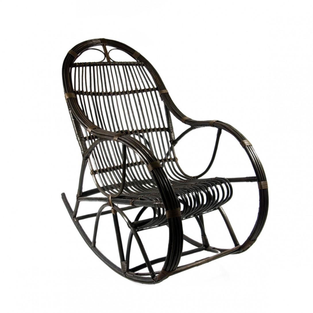 Wicker rocking chair SNAIL brown FST0070