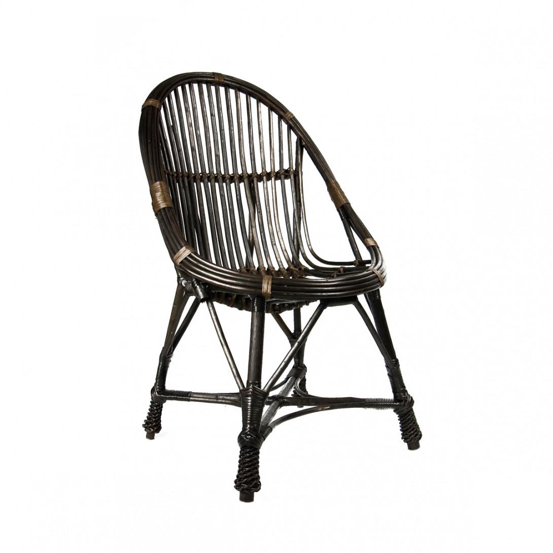 Wiklinowe krzesło WELOVE brązowe FST0080 - gie el