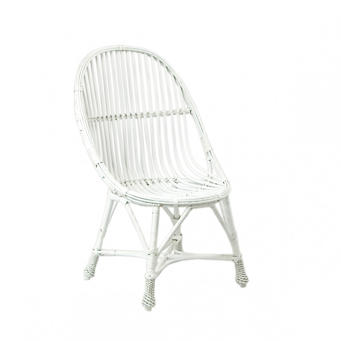 Wicker chair WELOVE white FST0081