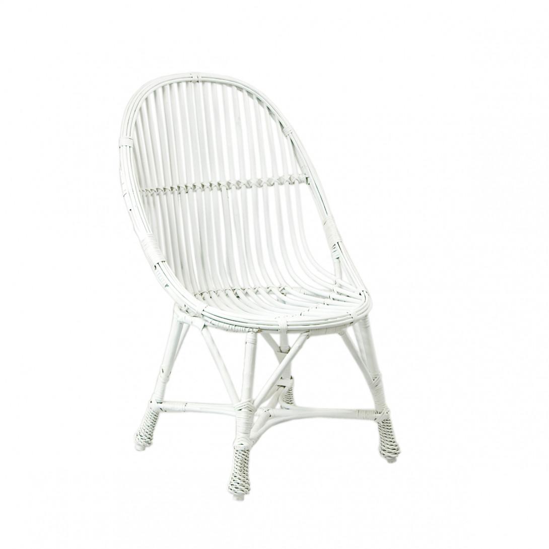 Wiklinowe krzesło WELOVE białe FST0081 - gie el
