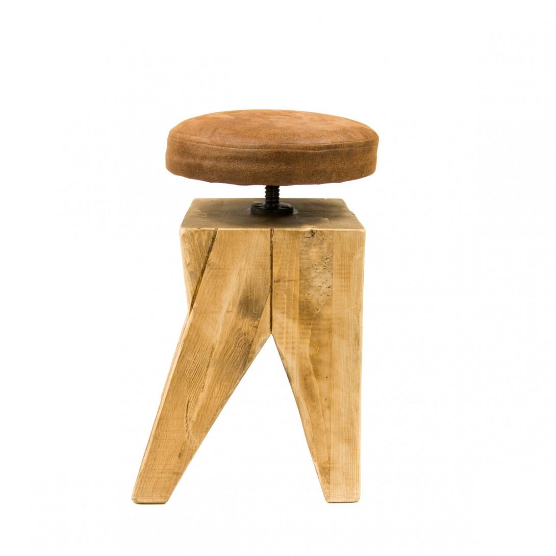 Stool on wooden base SWIVEL FST0130