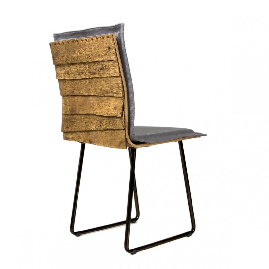 Krzesło na czarnych płozach SHINGLE szare FST0147