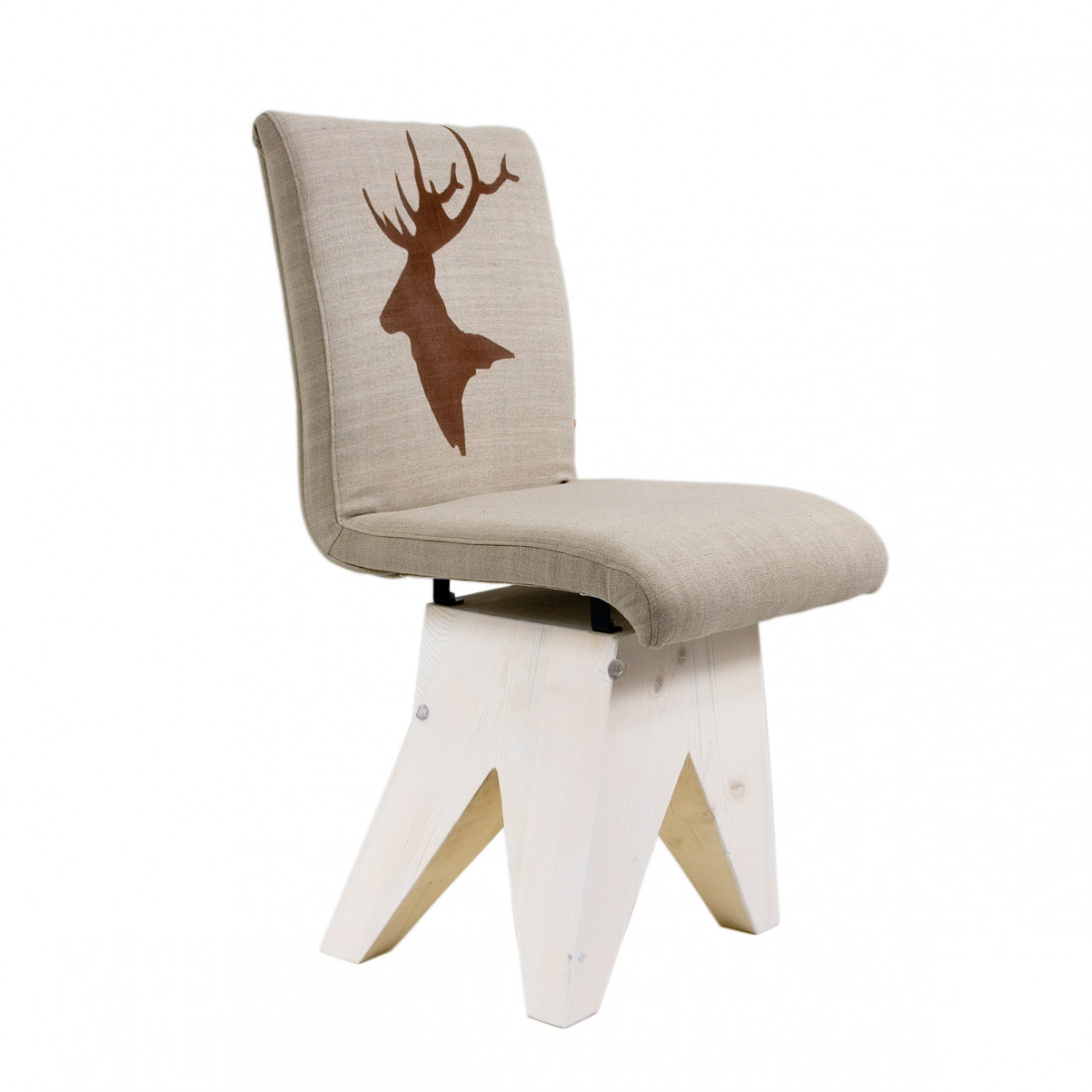 Chair DEER on wooden bleached base FST0190