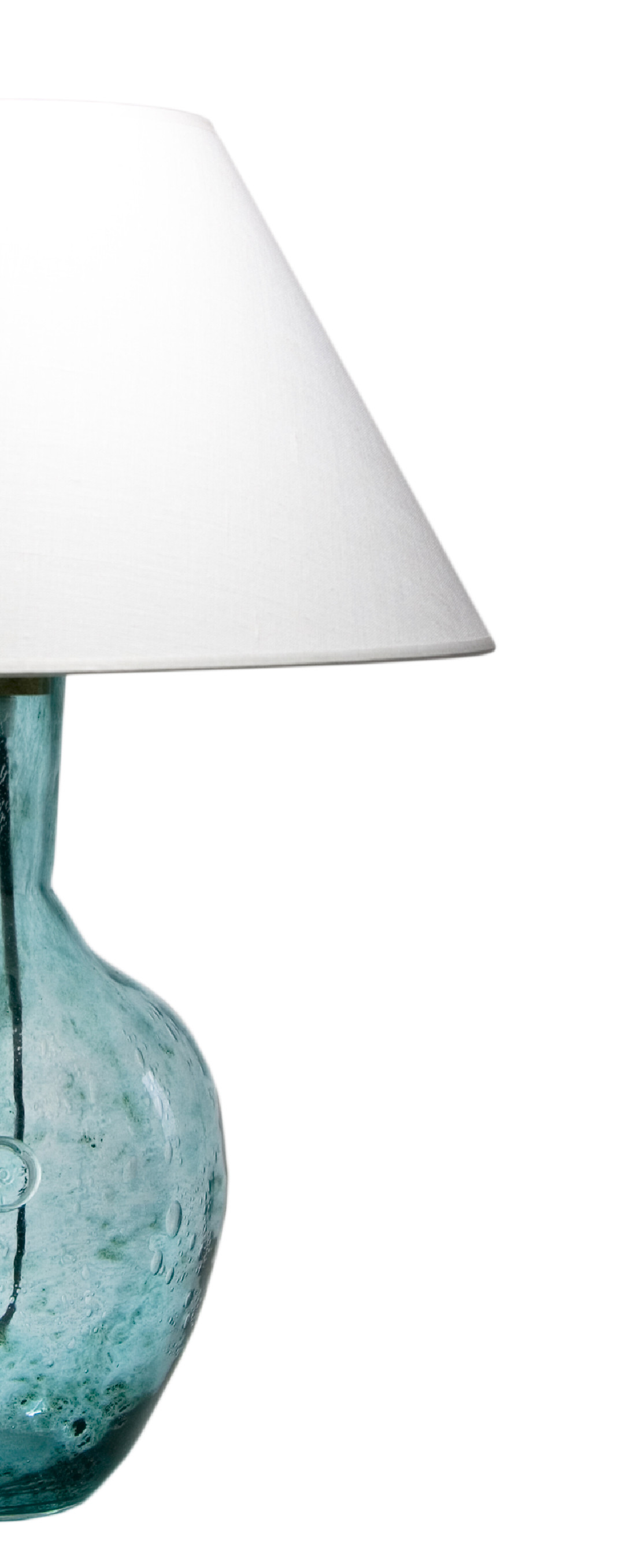 Picture of: Glass Table Lamp Rafaello Turquoise Lgh0071 Gie El Pl