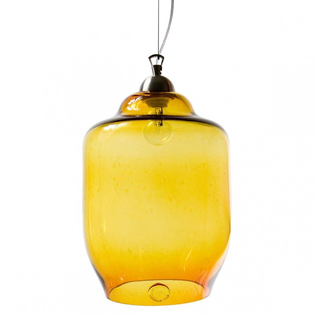 Lampa wisząca szklana BEE miodowa LGH0100
