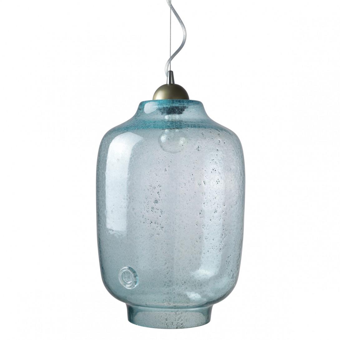 Lampa wisząca szklana BEE turkusowa LGH0101