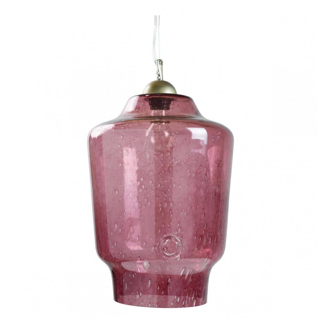 Glass pendant lamp BEE LGH0491 pink - gie el