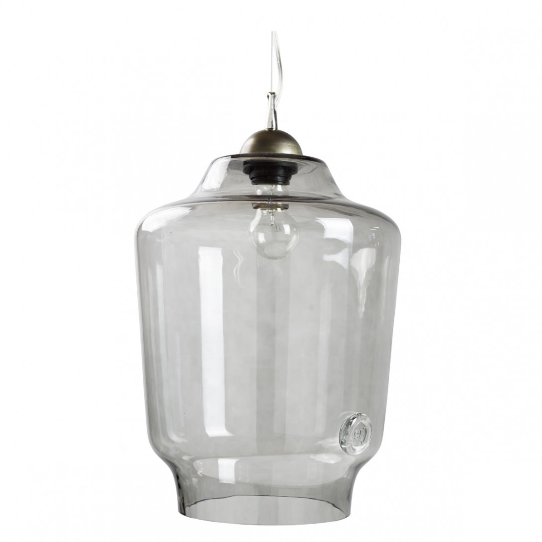 Glass pendant lamp BEE LGH0492 gray
