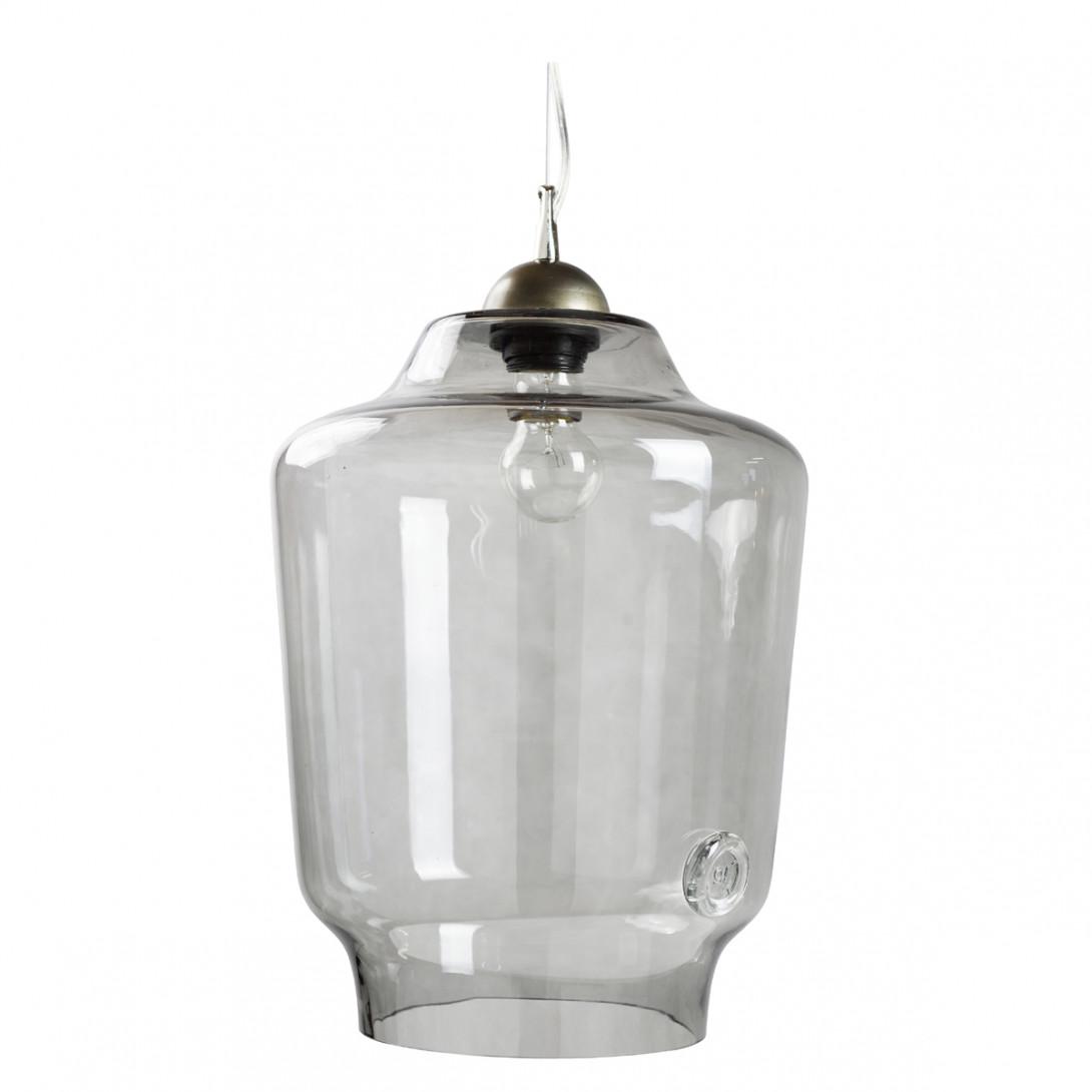 Lampa wisząca szklana BEE szara LGH0492 - gie el