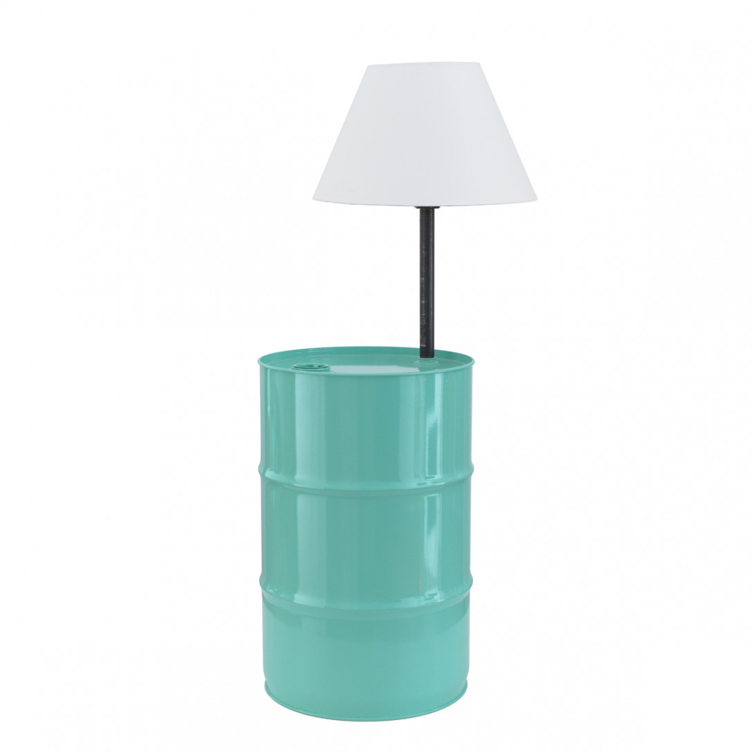 BARREL floor lamp in turquoise LGH0152