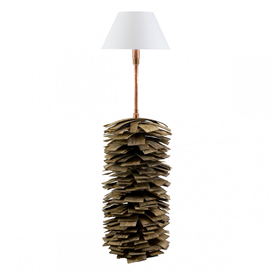Wooden floor lamp SHINGLE big LGH0243 - gie el