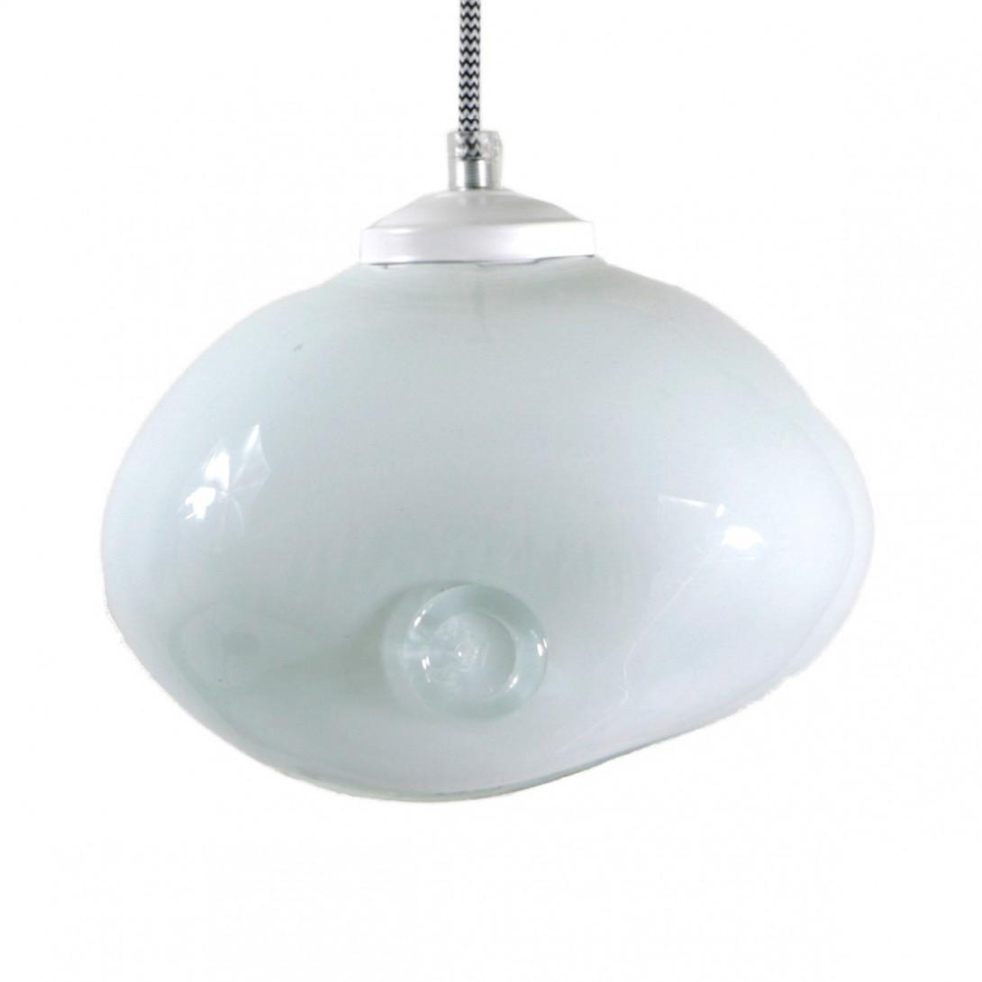 Glass pendant lamp MEDUSE snow white LGH0250