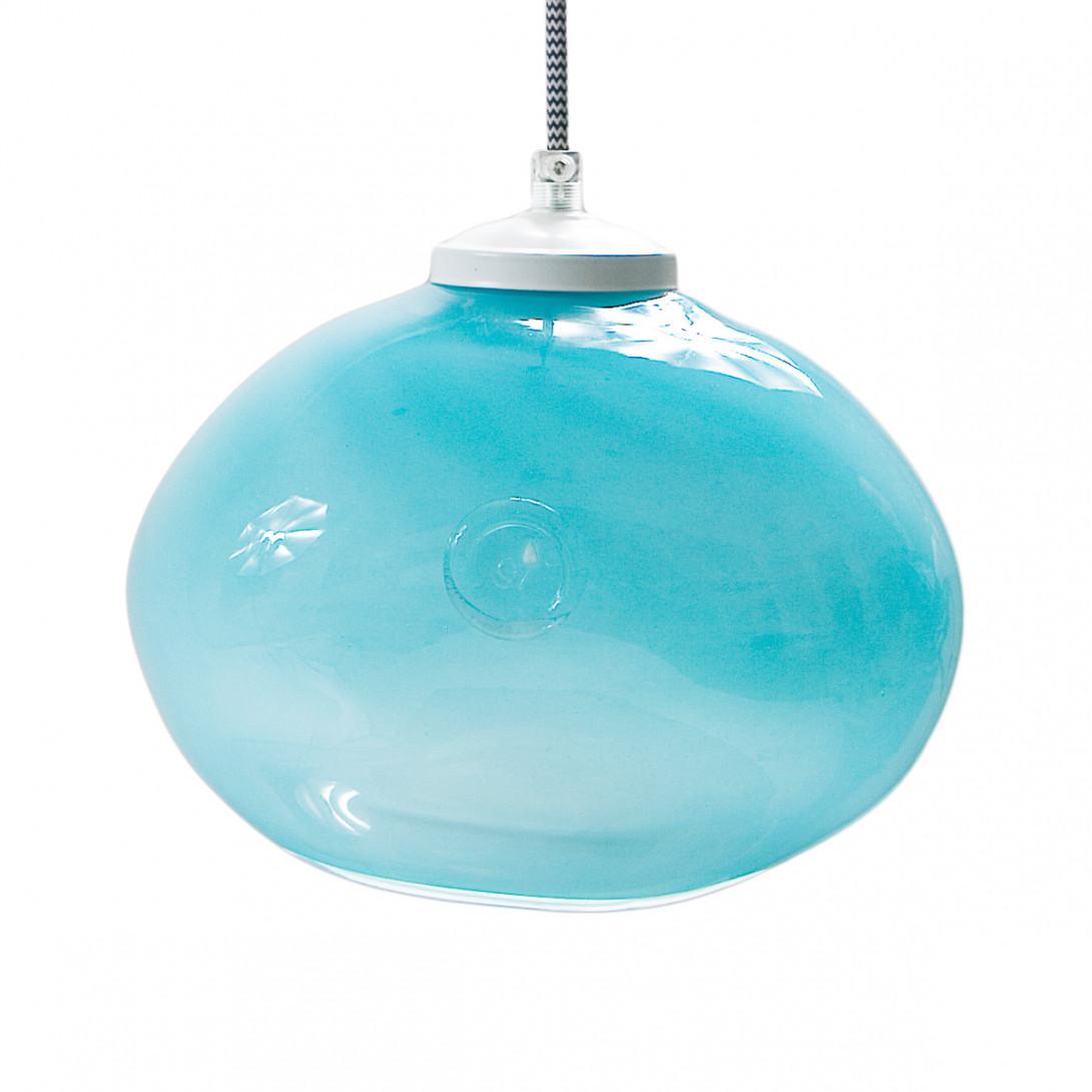 Glass pendant lamp MEDUSE mystic turquoise LGH0251