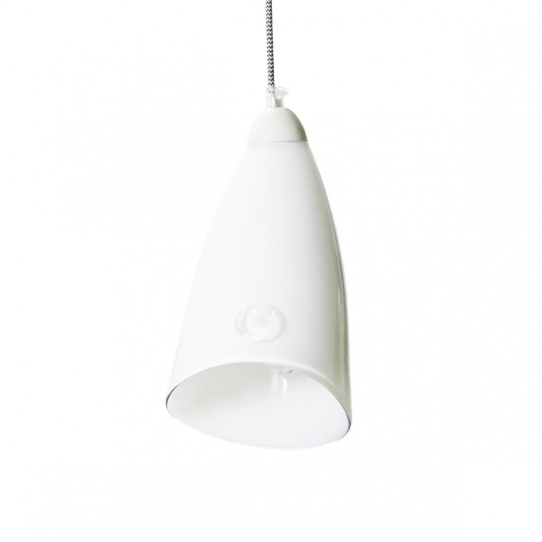Lampa wisząca szklana HORN biała LGH0260