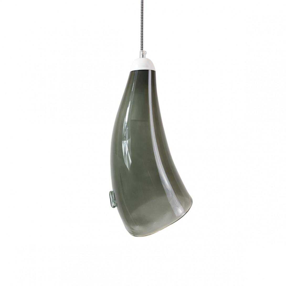 Glass pendant lamp HORN gray LGH0263