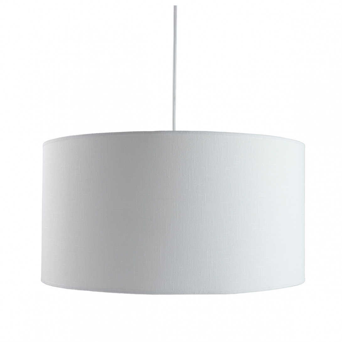 Lampa wisząca tekstylna PIANO II biała LGH0501