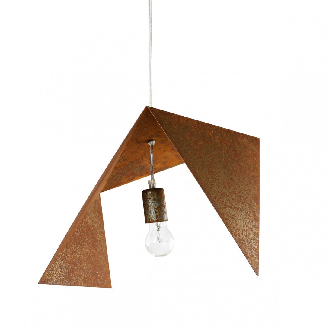 Steel pendant lamp RUST BIRD II LGH0551