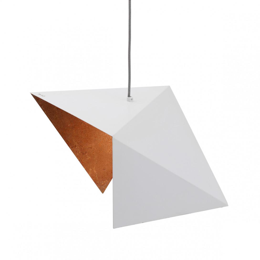 Pendant lamp DUO BIRD II white-rusty LGH0643