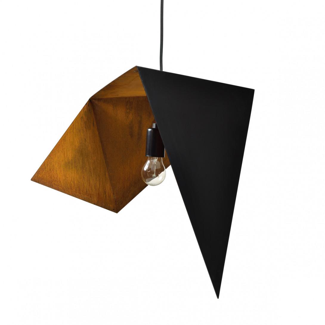 Pendant lamp DUO BIRD I black-rusty LGH0640 - gie el