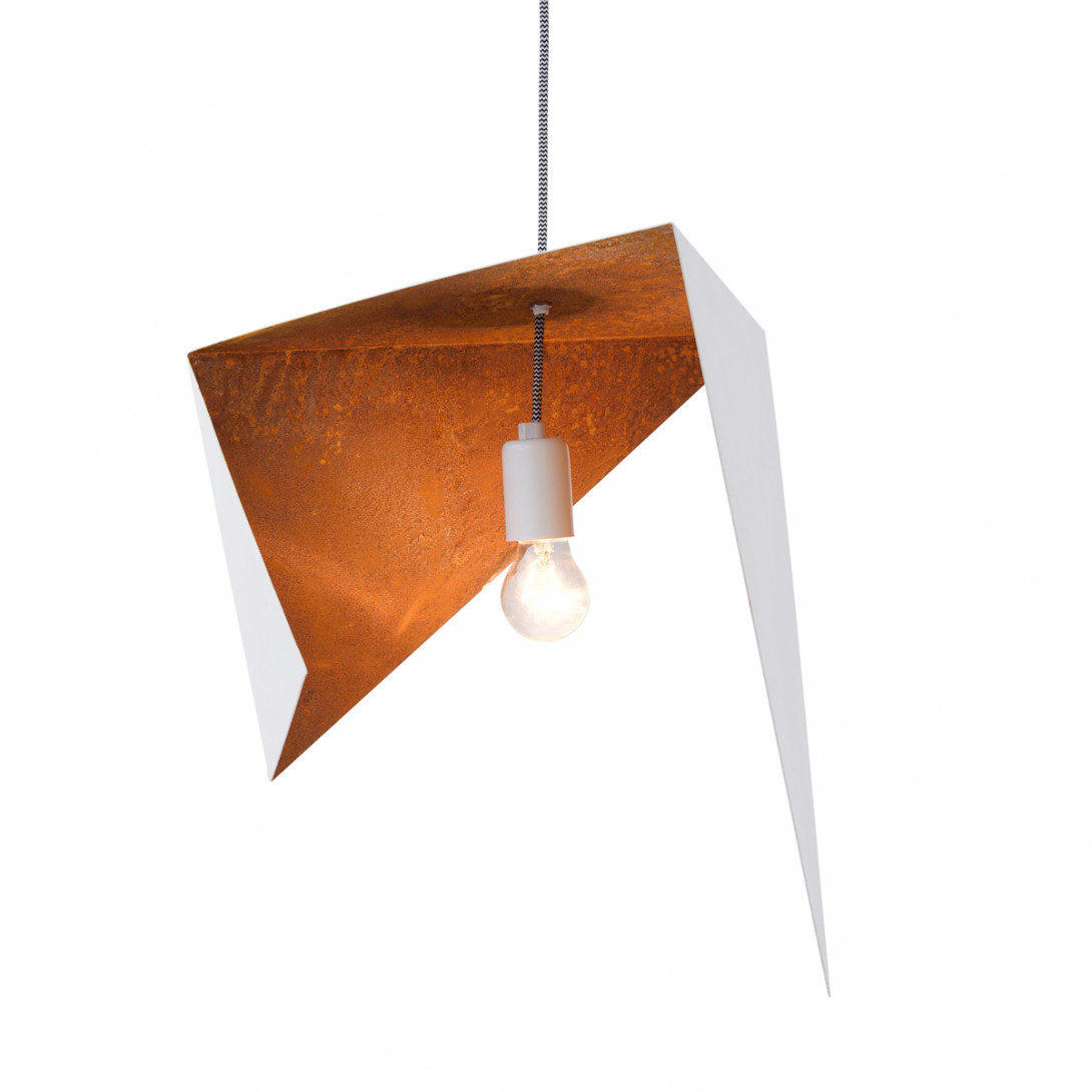 Pendant lamp DUO BIRD I white-rusty LGH0642