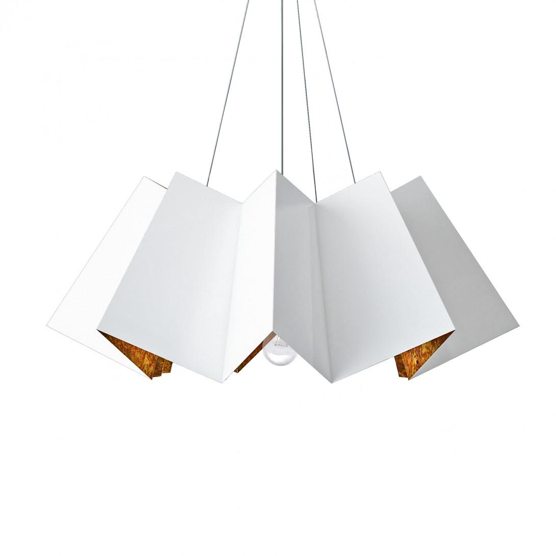 Lampa wisząca FRILL biało-rdzawa LGH0751