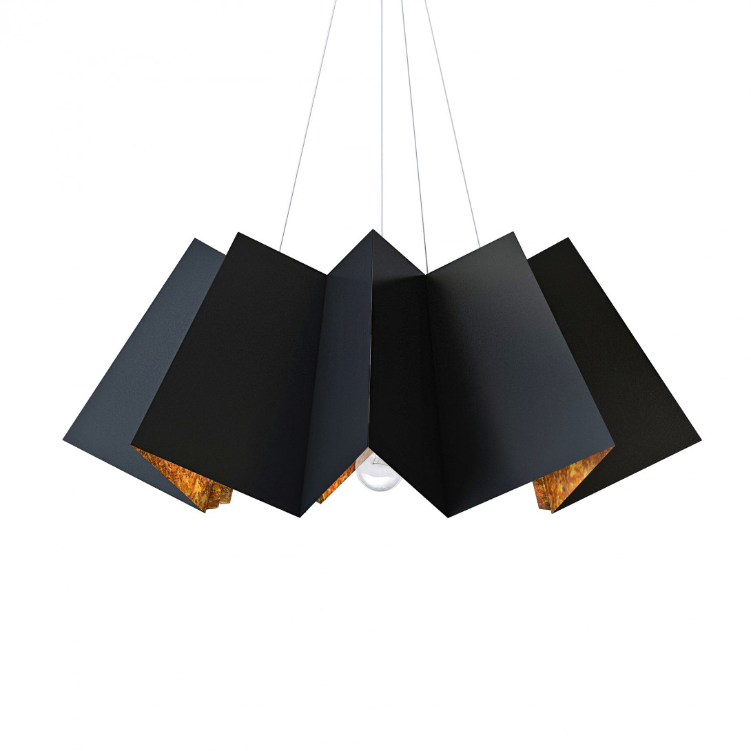 Pendant lamp FRILL black&rusty LGH0750