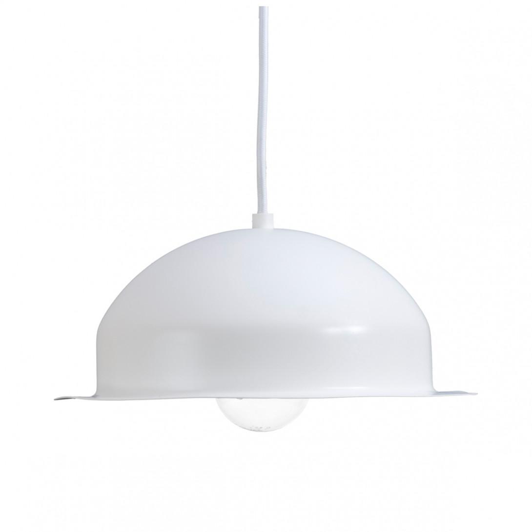 Lampa wisząca stalowa HAT biała LGH0144 - gie el
